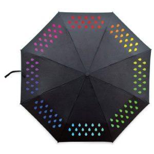 umbrela care se coloreaza la ploaie