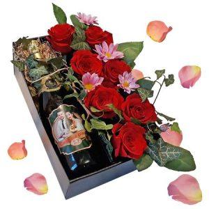 Cos cu flori personalizat