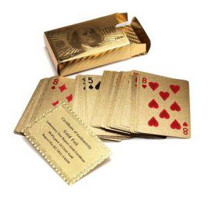 cadou carti de joc foita aur