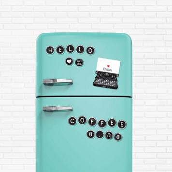 cadou amuzant magneti frigider masina de scris