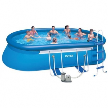 cadou curte piscina intex oval frame